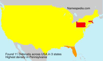 Surname Didonatis in USA