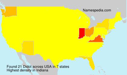 Familiennamen Didot - USA