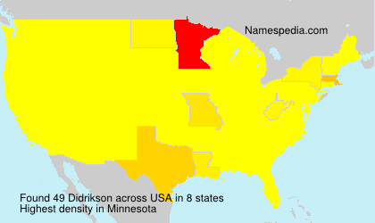 Surname Didrikson in USA
