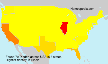 Surname Dieden in USA
