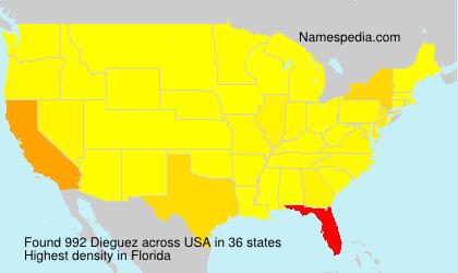 Surname Dieguez in USA