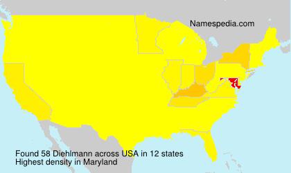 Surname Diehlmann in USA