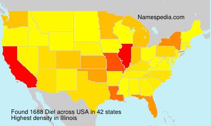 Surname Diel in USA