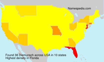 Surname Diemunsch in USA
