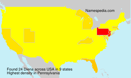 Surname Diena in USA