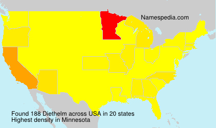 Surname Diethelm in USA
