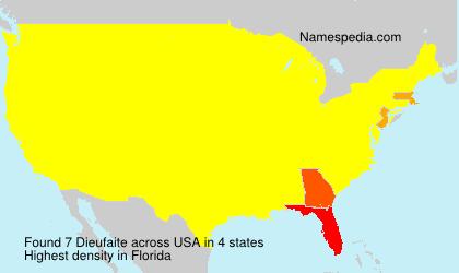 Surname Dieufaite in USA