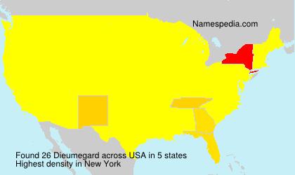 Familiennamen Dieumegard - USA