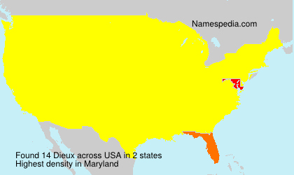 Surname Dieux in USA