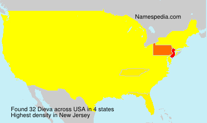 Surname Dieva in USA