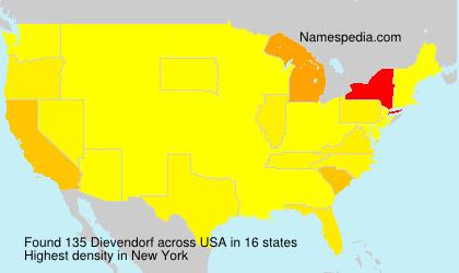 Familiennamen Dievendorf - USA