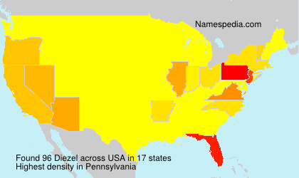 Surname Diezel in USA