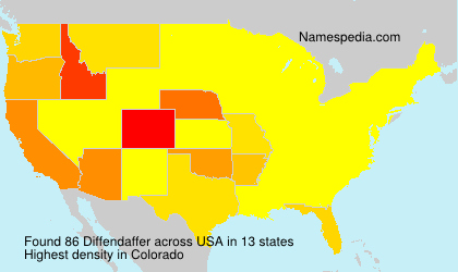 Surname Diffendaffer in USA