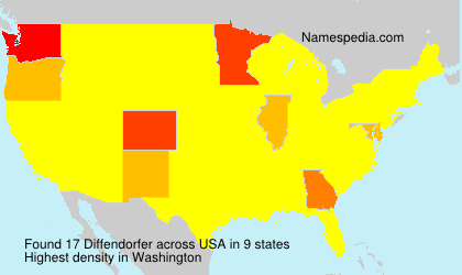 Surname Diffendorfer in USA