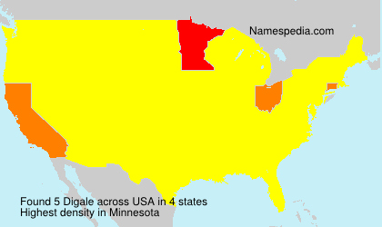 Surname Digale in USA