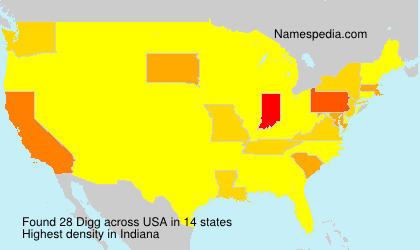 Surname Digg in USA