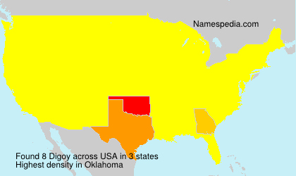 Surname Digoy in USA