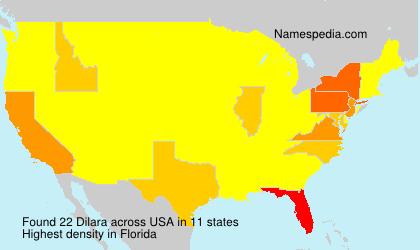 Surname Dilara in USA