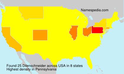 Familiennamen Dilenschneider - USA