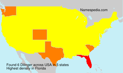 Surname Dilinger in USA