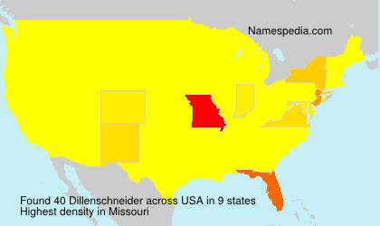 Familiennamen Dillenschneider - USA