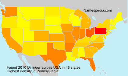 Surname Dillinger in USA