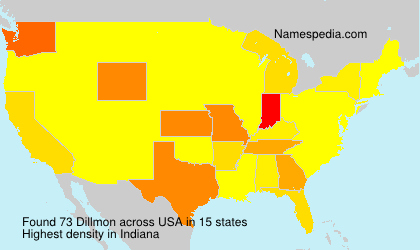 Familiennamen Dillmon - USA