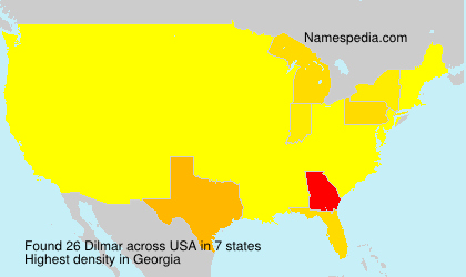 Surname Dilmar in USA