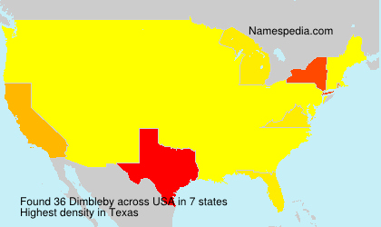 Surname Dimbleby in USA