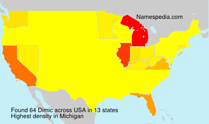 Surname Dimic in USA
