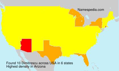 Surname Dimitrescu in USA