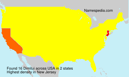 Surname Dimitui in USA