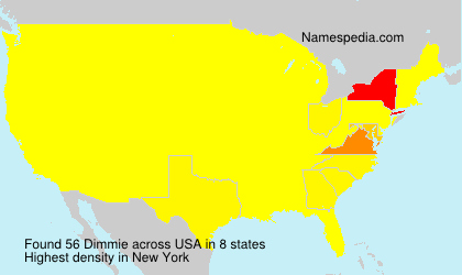 Surname Dimmie in USA