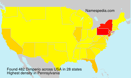 Surname Dimperio in USA