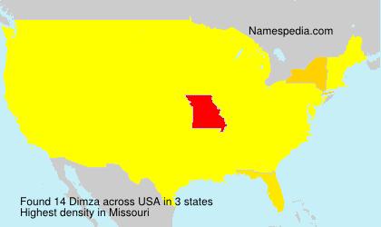 Surname Dimza in USA