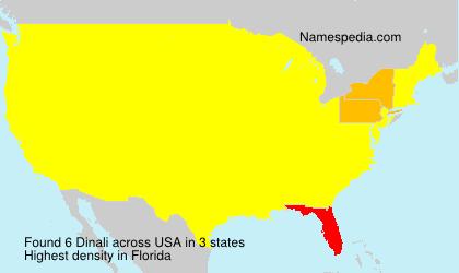 Surname Dinali in USA
