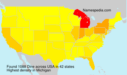Surname Dine in USA