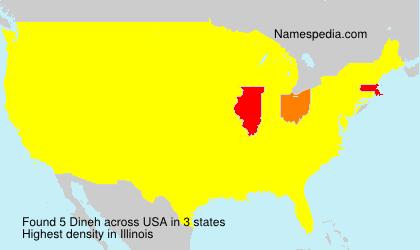 Familiennamen Dineh - USA