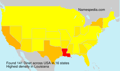 Surname Dinet in USA