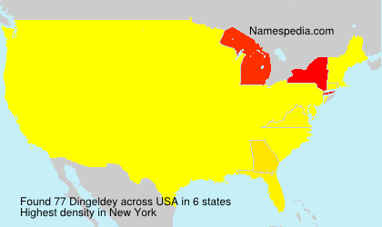 Surname Dingeldey in USA