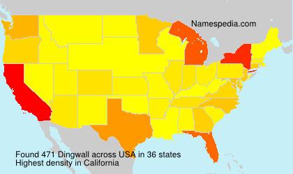 Familiennamen Dingwall - USA