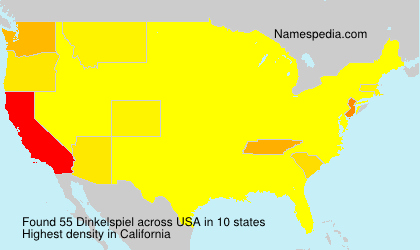 Surname Dinkelspiel in USA