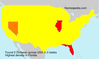 Surname Dinlasan in USA