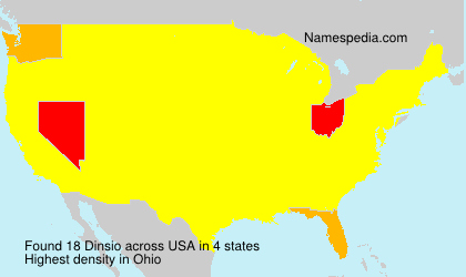 Surname Dinsio in USA