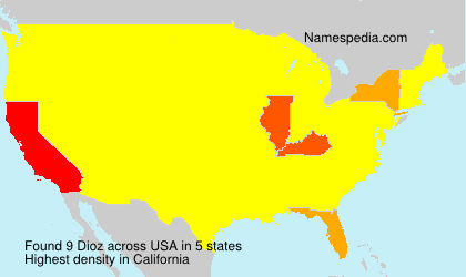 Surname Dioz in USA