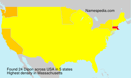 Surname Dipon in USA