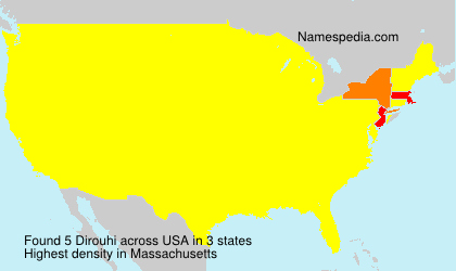 Surname Dirouhi in USA