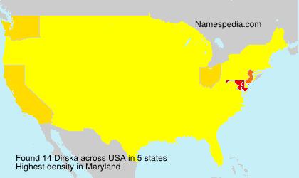 Surname Dirska in USA
