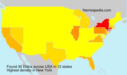 Surname Disha in USA