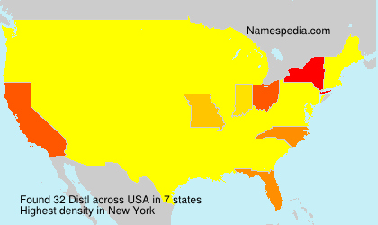 Surname Distl in USA